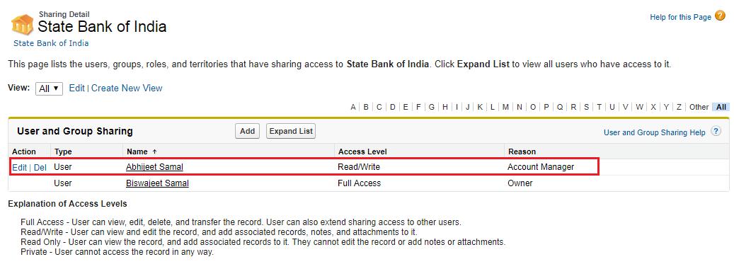 Apex Sharing Reason – Biswajeet Samal's Blog